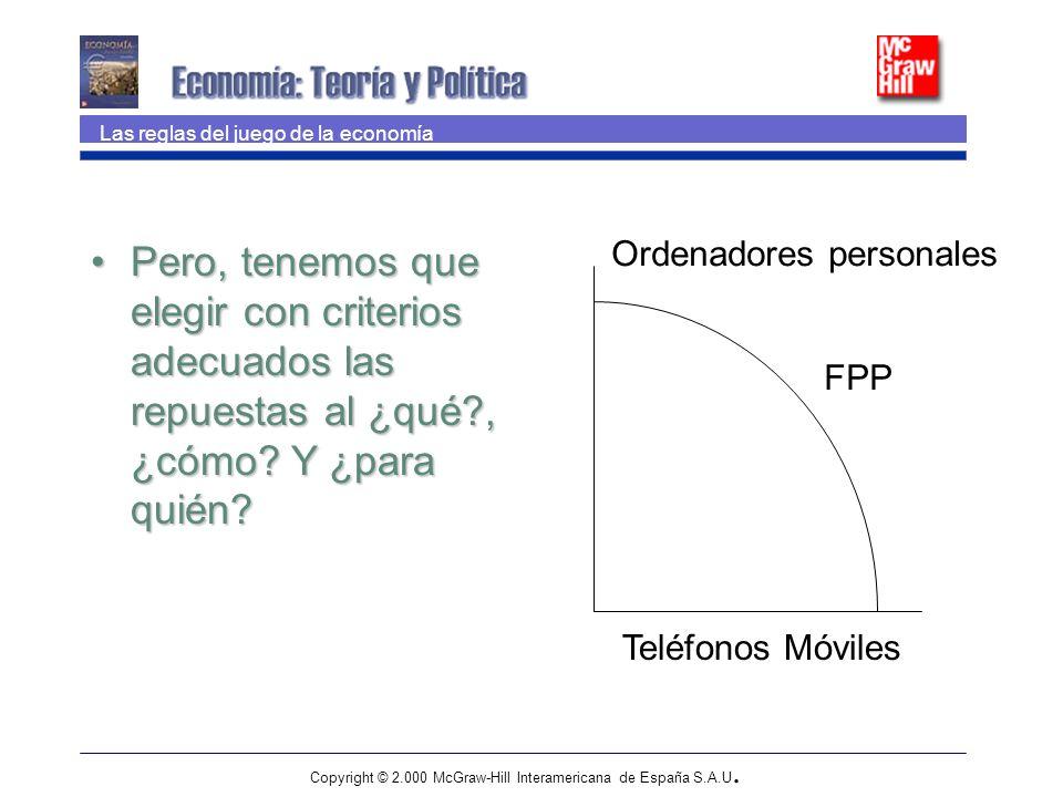 Copyright © 2.000 McGraw-Hill Interamericana de España S.A.U. Pero, tenemos que elegir con criterios adecuados las repuestas al ¿qué?, ¿cómo? Y ¿para