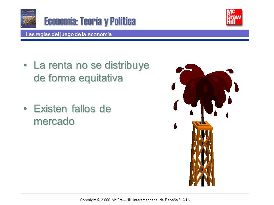 Copyright © 2.000 McGraw-Hill Interamericana de España S.A.U. Las reglas del juego de la economía La renta no se distribuye de forma equitativaLa rent