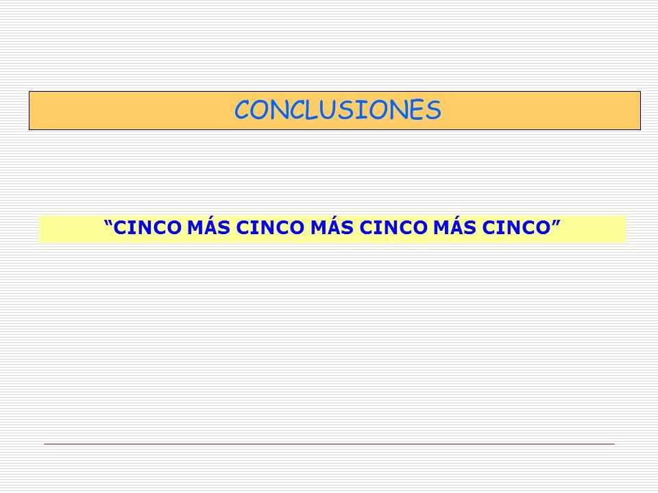 CONCLUSIONES CINCO M Á S CINCO M Á S CINCO M Á S CINCO