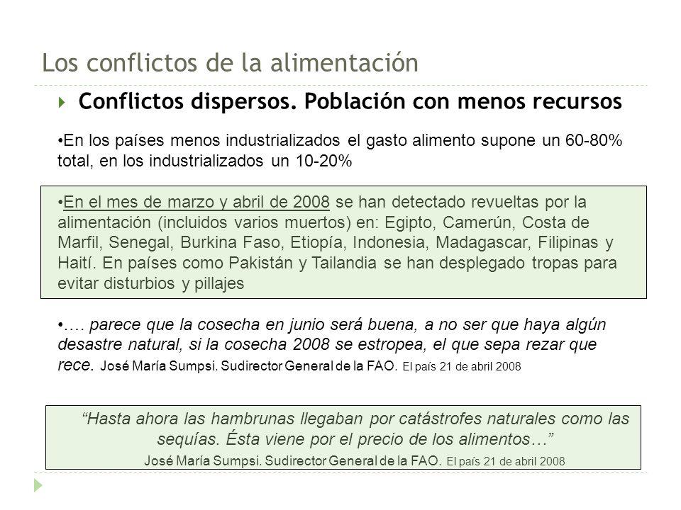 Conflictos dispersos.