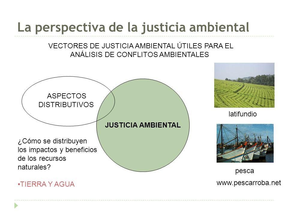La perspectiva de la justicia ambiental PESCANOVA EN CHILE (1983-act) Modelo pesca y acuicultura para la exportación (merluza+salmón) ¿Cómo distribuir cuotas pesqueras entre pescadores industriales y pesca tradicional.