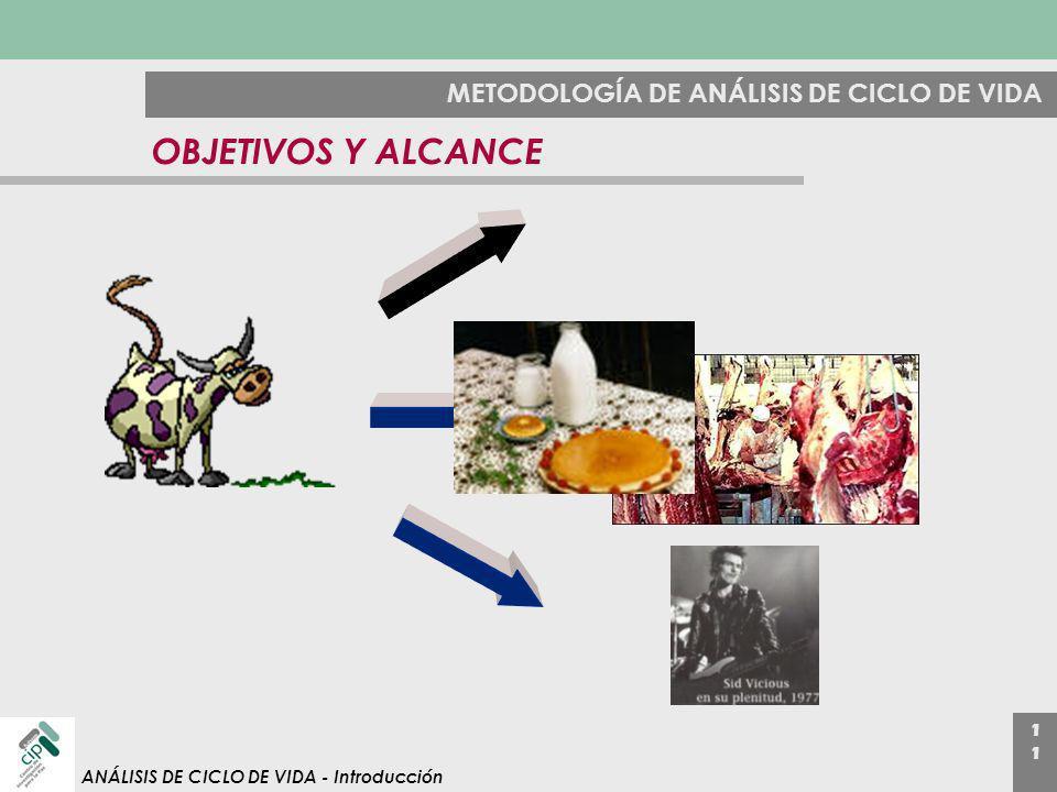 1 ANÁLISIS DE CICLO DE VIDA - Introducción METODOLOGÍA DE ANÁLISIS DE CICLO DE VIDA OBJETIVOS Y ALCANCE