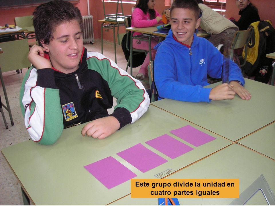 Este grupo divide la unidad en cuatro partes iguales
