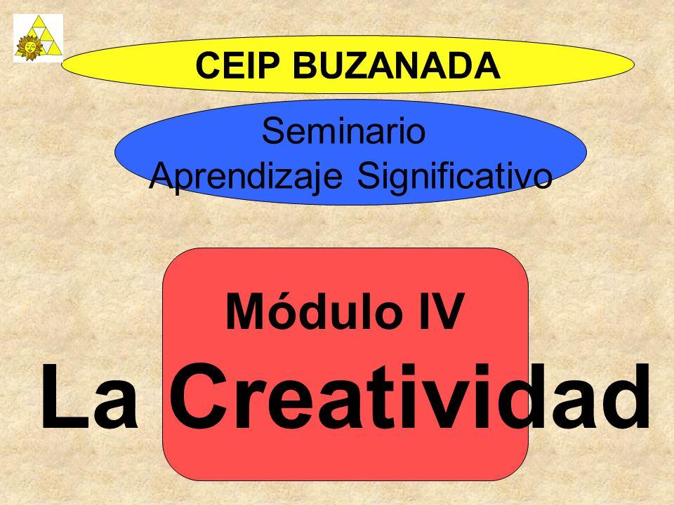 Módulo IV La Creatividad CEIP BUZANADA Seminario Aprendizaje Significativo