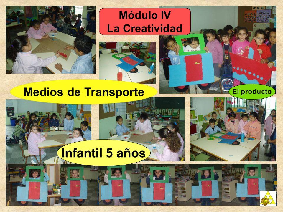 Módulo IV La Creatividad El producto Infantil 5 años Medios de Transporte