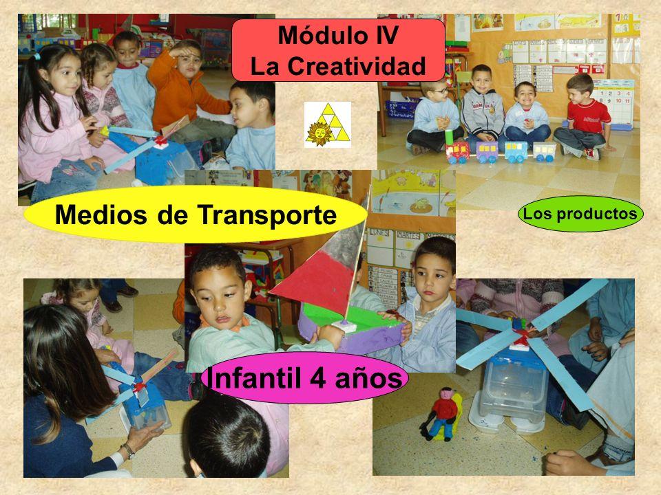 Módulo IV La Creatividad Los productos Medios de Transporte Infantil 4 años
