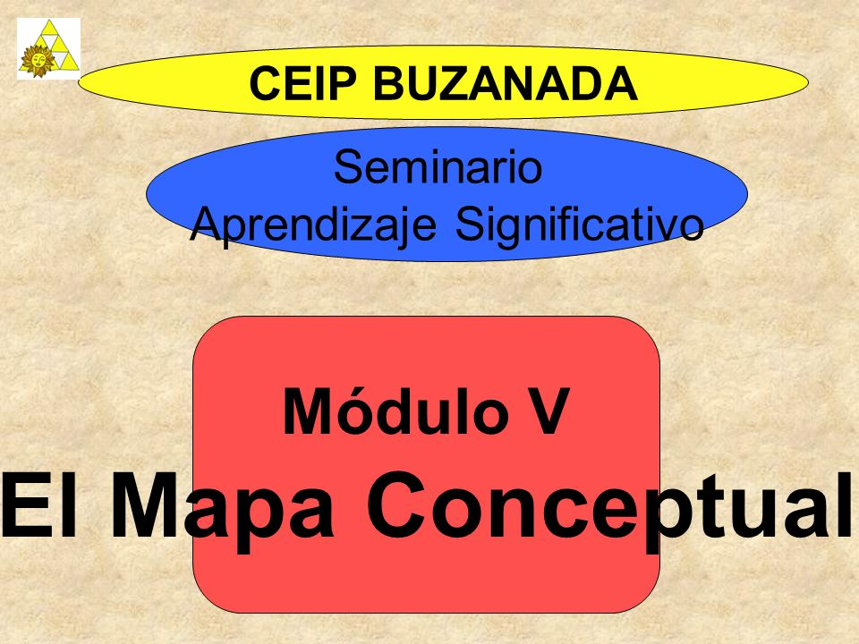 Módulo V El Mapa Conceptual CEIP BUZANADA Seminario Aprendizaje Significativo