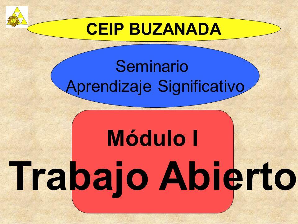 Módulo I Trabajo Abierto CEIP BUZANADA Seminario Aprendizaje Significativo