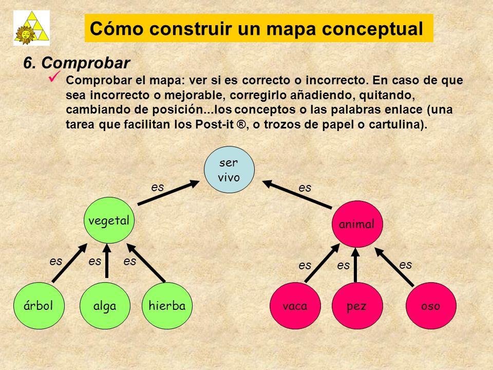 6. Comprobar Comprobar el mapa: ver si es correcto o incorrecto. En caso de que sea incorrecto o mejorable, corregirlo añadiendo, quitando, cambiando