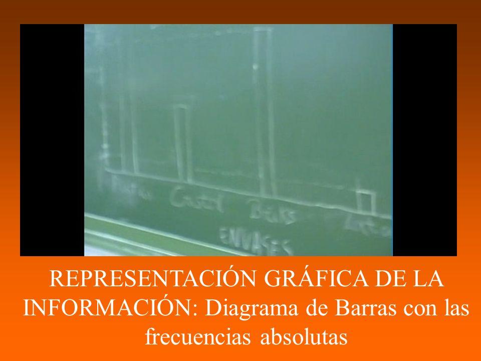 REPRESENTACIÓN GRÁFICA DE LA INFORMACIÓN: Diagrama de Barras con las frecuencias absolutas