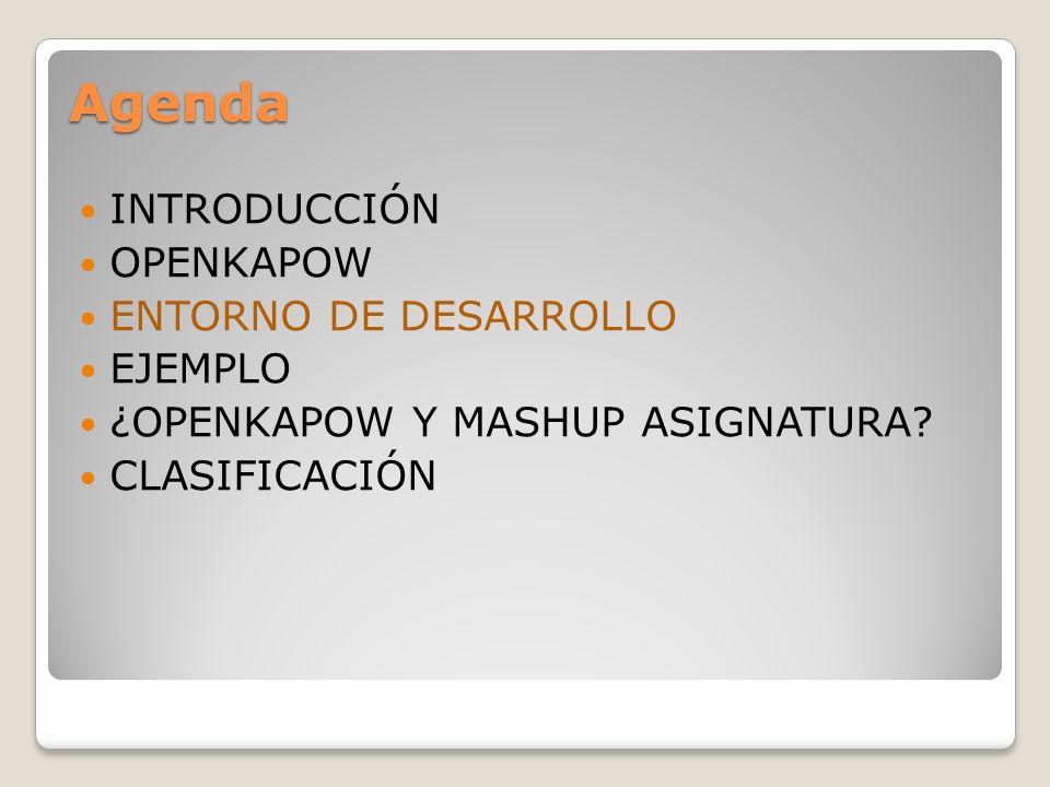 Entorno de Desarrollo Entorno de desarrollo con varias partes diferenciables: 1.