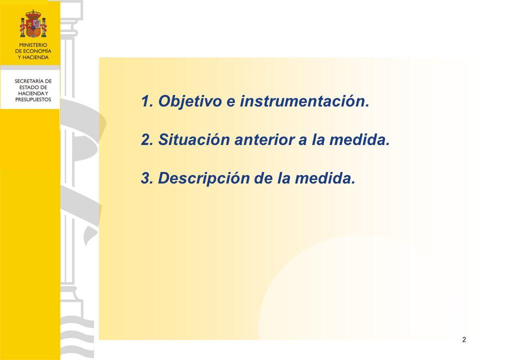 22 1. Objetivo e instrumentación. 2. Situación anterior a la medida. 3. Descripción de la medida.