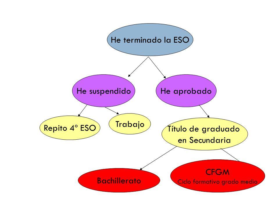 Bachillerato: materias según modalidad elegida.MODALIDAD Ciencias Sociales y Humanidades.