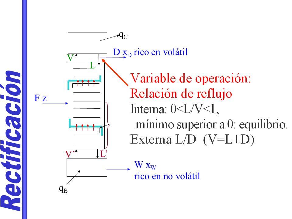 W x W rico en no volátil D x D rico en volátil qBqB F z V L qCqC V L