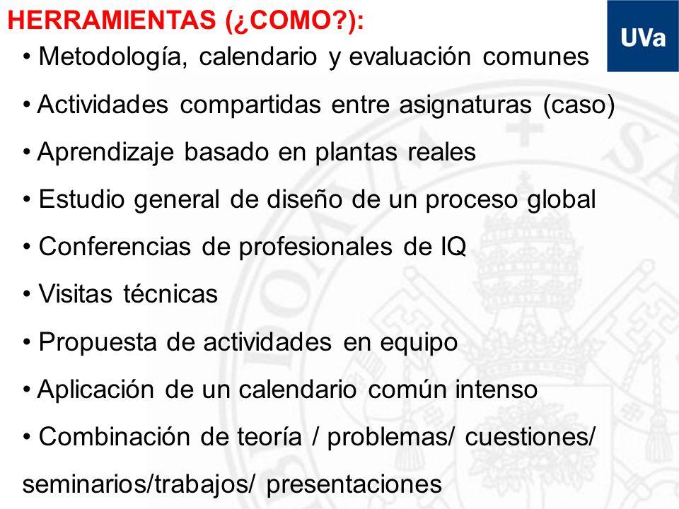 INFORMACIÓN Curso: –Página web: www.iq.uva.es/4iqwww.iq.uva.es/4iq Asignaturas: –Páginas web UVA/propias –Cursos virtuales: UVA/propios Caso: –Curso virtual