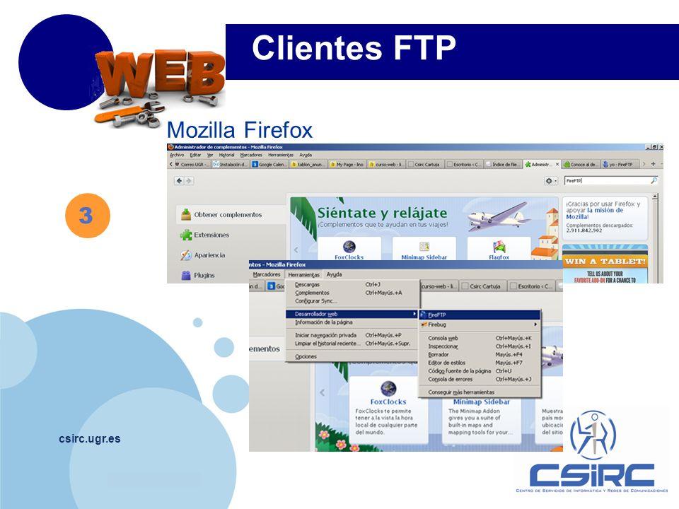 www.company.com csirc.ugr.es Mozilla Firefox Clientes FTP 3