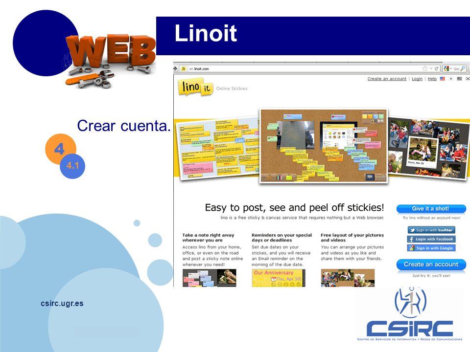 www.company.com csirc.ugr.es 4 4.1 Linoit Crear cuenta.