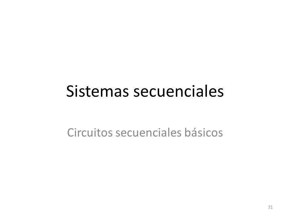 Sistemas secuenciales Circuitos secuenciales básicos 31