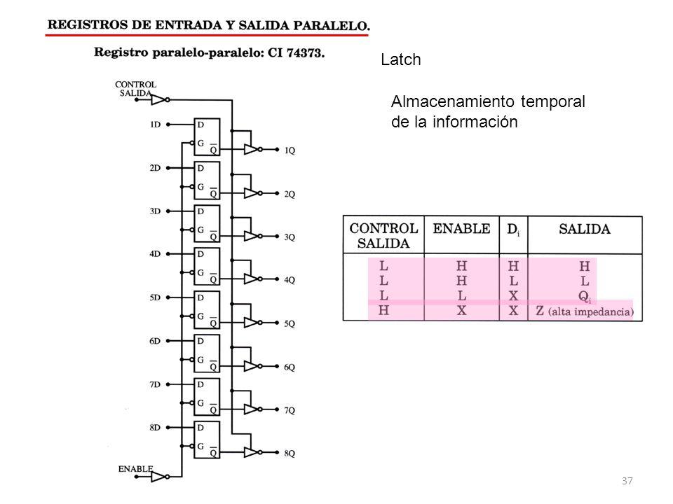 37 Latch Almacenamiento temporal de la información