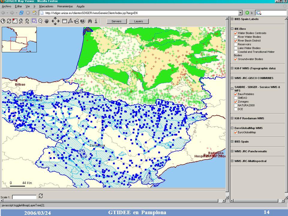 Consejo Superior Geográfico IDEE 2006/03/24 GTIDEE en Pamplona 14