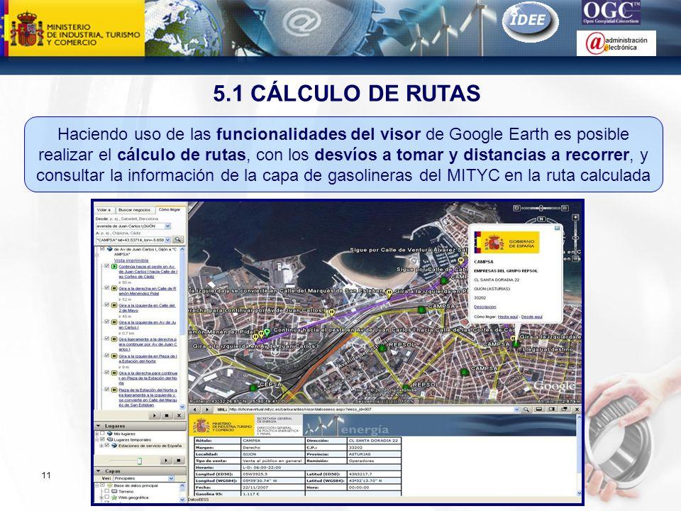 Subdirección General de Tecnologías de la Información y de las Comunicaciones 11 5.1 CÁLCULO DE RUTAS Haciendo uso de las funcionalidades del visor de