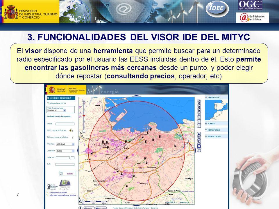 Subdirección General de Tecnologías de la Información y de las Comunicaciones 7 El visor dispone de una herramienta que permite buscar para un determi