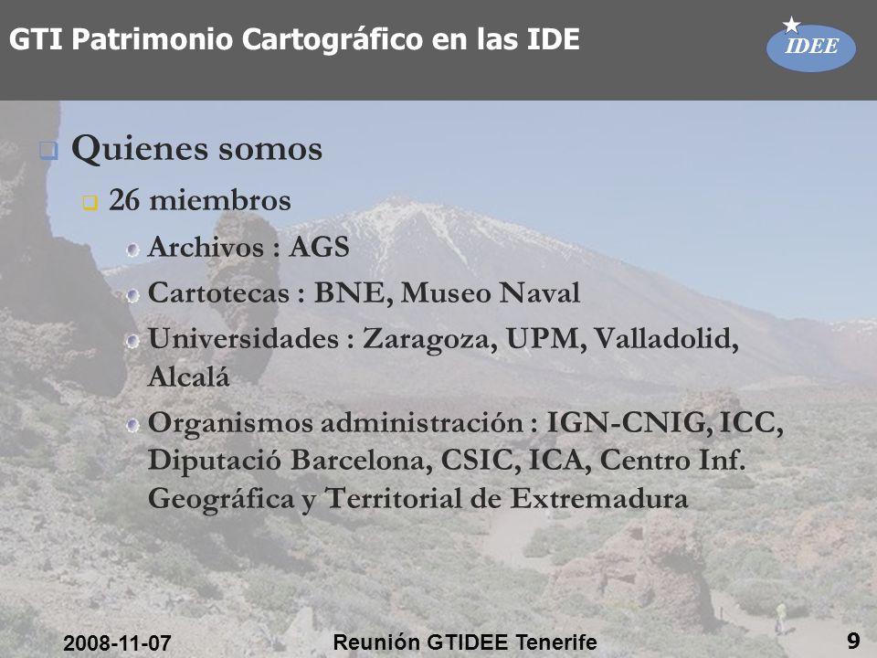 Consejo Superior Geográfico 10 Gracias por vuestra atención Joan Capdevila Joan.capdevila@map.es 2008-11-07 Reunión GTIDEE Tenerife