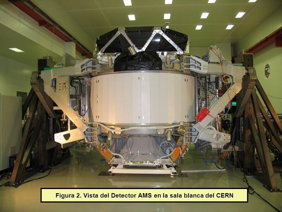 Figura 2. Vista del Detector AMS en la sala blanca del CERN