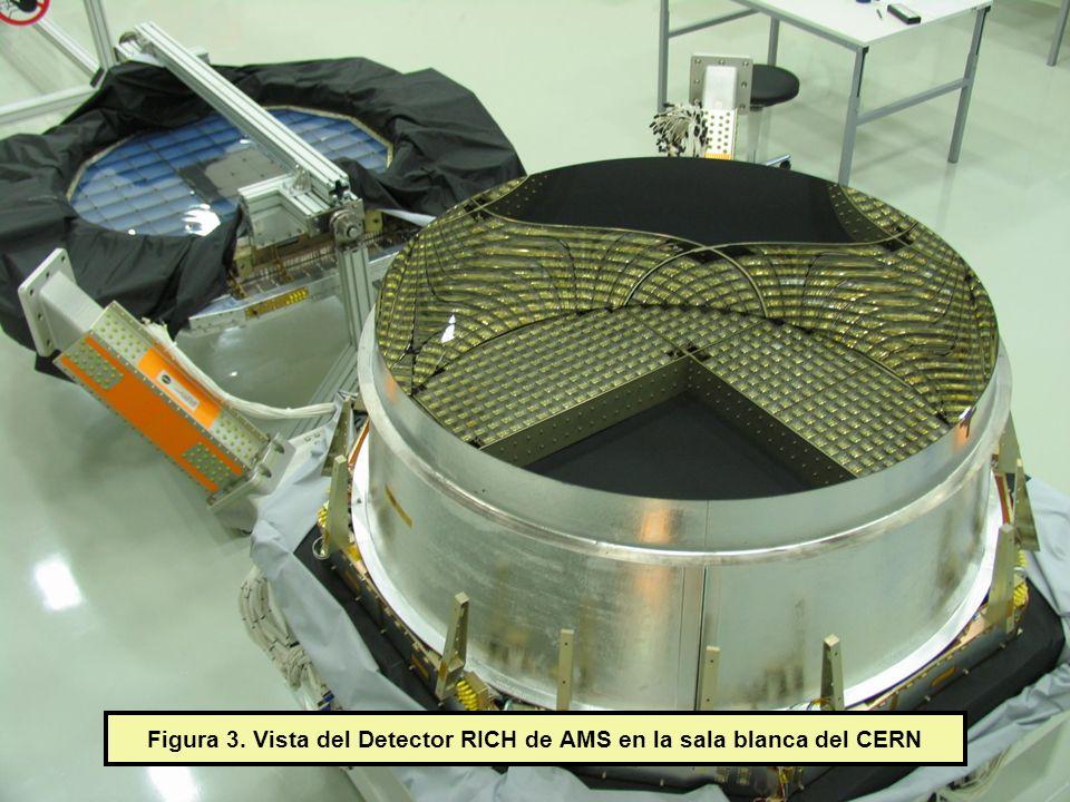 Figura 3. Vista del Detector RICH de AMS en la sala blanca del CERN