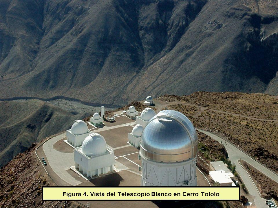 Figura 4. Vista del Telescopio Blanco en Cerro Tololo