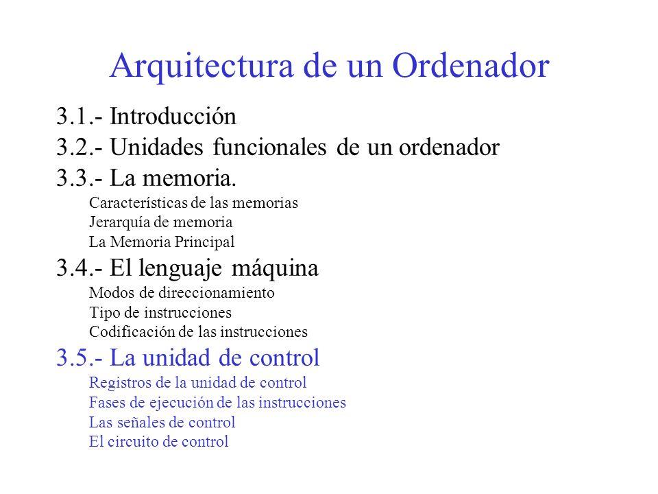 TEMA 2 Arquitectura de un Ordenador La Unidad de Control