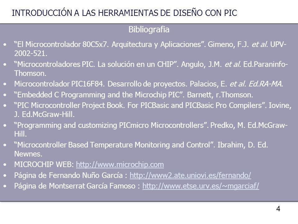 5 INTRODUCCIÓN A LOS MICROCONTROLADORES DTO. INGENIERIA ELECTRÓNICA TEMA 1