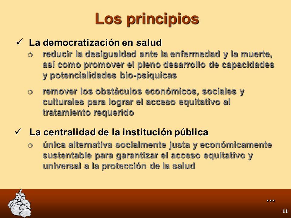 10 Visión El Programa de Salud del Gobierno del Distrito Federal propone la construcción de un sistema de salud universal, gratuito, equitativo, antic