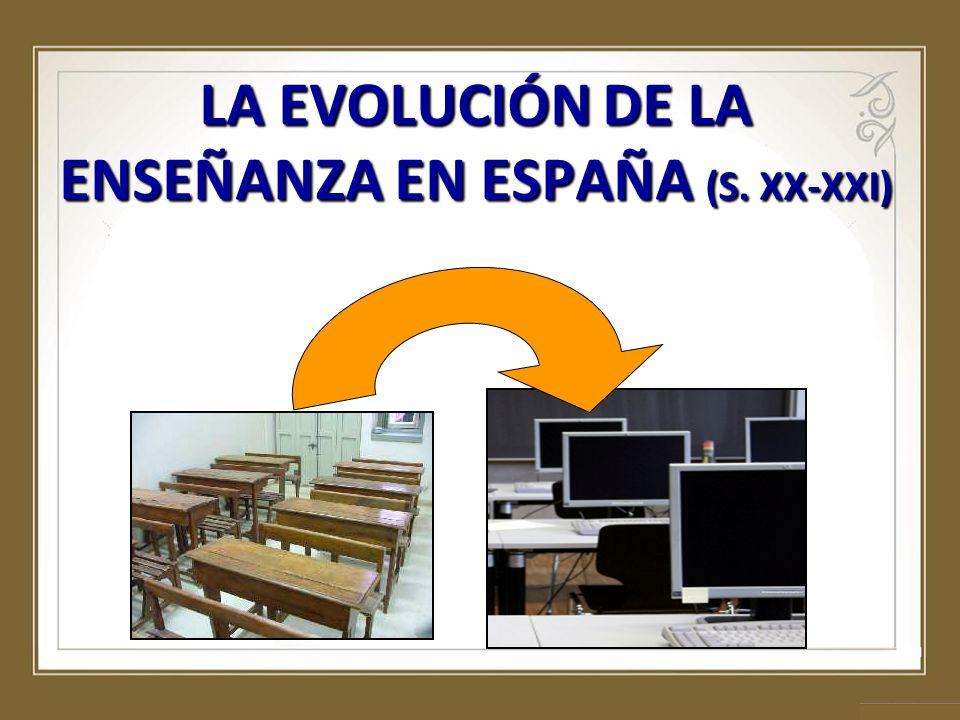 LA EVOLUCIÓN DE LA ENSEÑANZA EN ESPAÑA (S. XX-XXI)