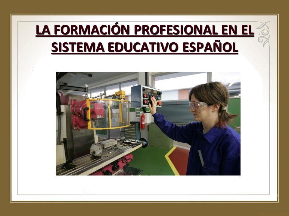 FORMACIÓN PROFESIONAL - Ley Orgánica de Cualificaciones.