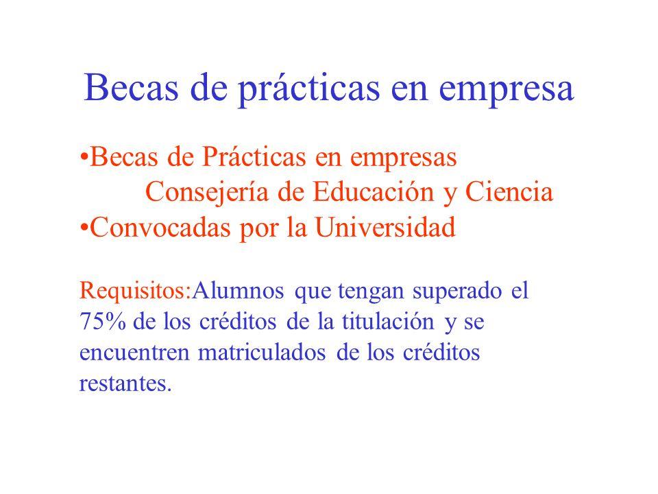 Becas de movilidad Sócrates/Erasmus (Europa) Becas Comenius Programa de Cooperación Inter universitaria (Intercampus) Becas Mutis Becas auxiliares de