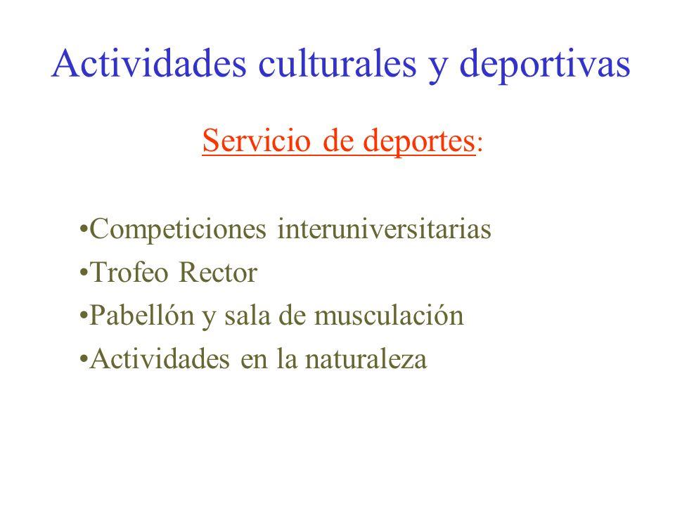 UNIVERSIDAD DE ALMERIA Actividades culturales y deportivas Biblioteca Campus virtual Alojamiento