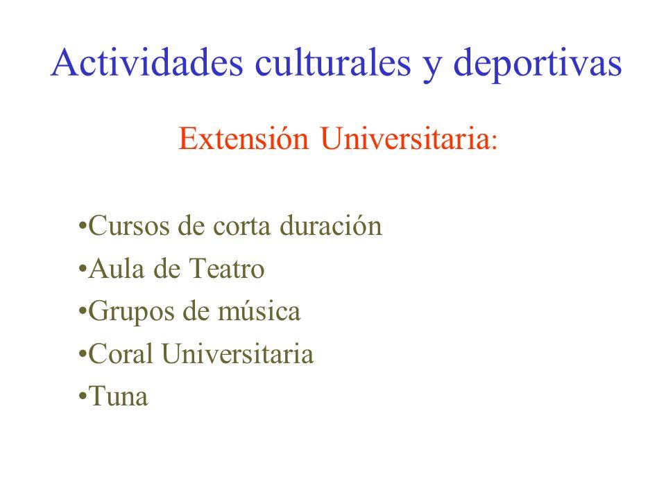 Actividades culturales y deportivas Servicio de deportes : Competiciones interuniversitarias Trofeo Rector Pabellón y sala de musculación Actividades