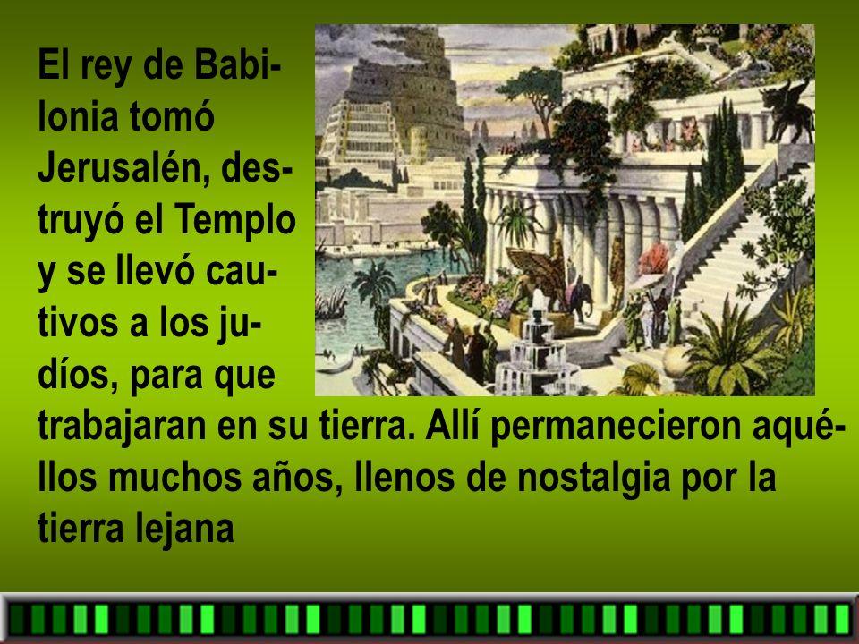 La Sagrada Biblia, donde se cuentan todas estas cosas, menciona distin- tos personajes que vivie- ron en diferentes mo – mentos de la historia de Israel.