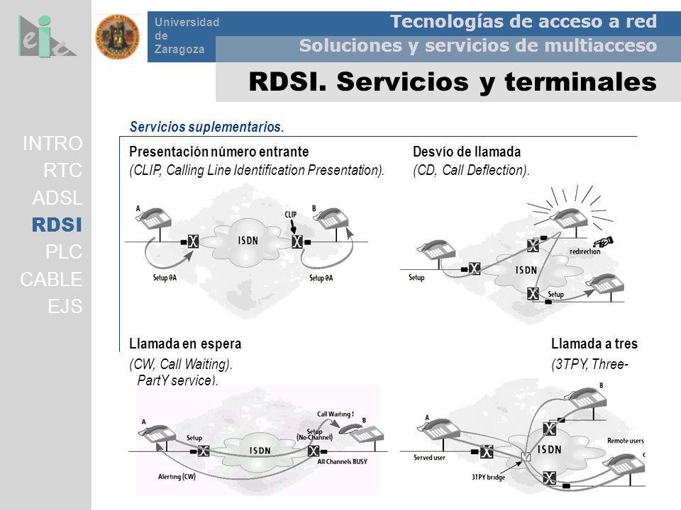 Tecnologías de acceso a red Soluciones y servicios de multiacceso Universidad de Zaragoza Servicios suplementarios. Presentación número entrante Desví