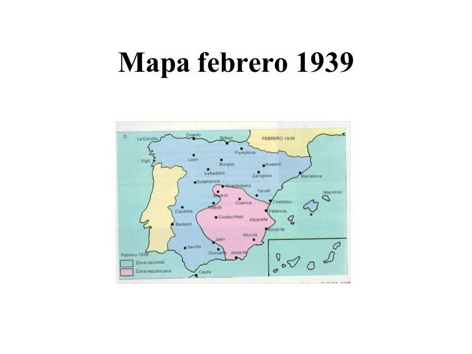 Mapa febrero 1939