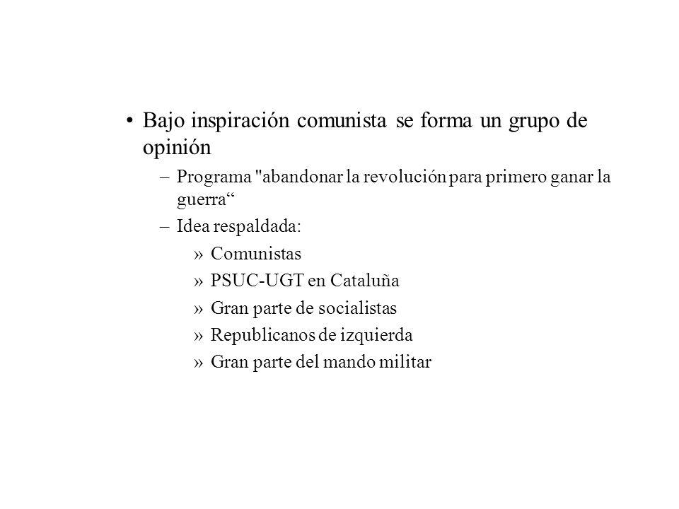Bajo inspiración comunista se forma un grupo de opinión –Programa
