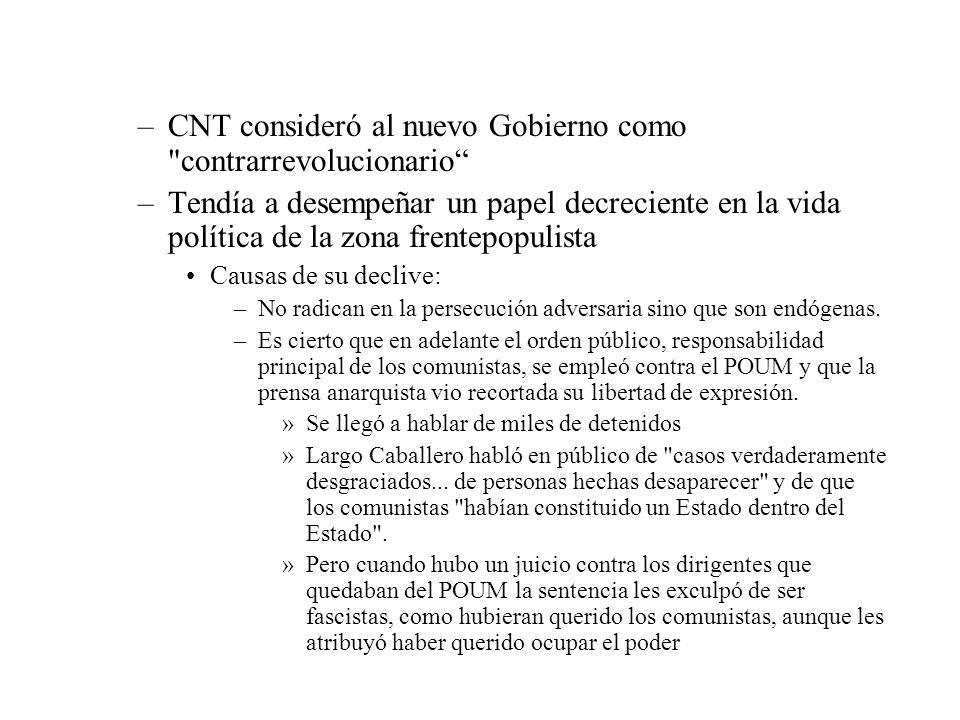 –CNT consideró al nuevo Gobierno como
