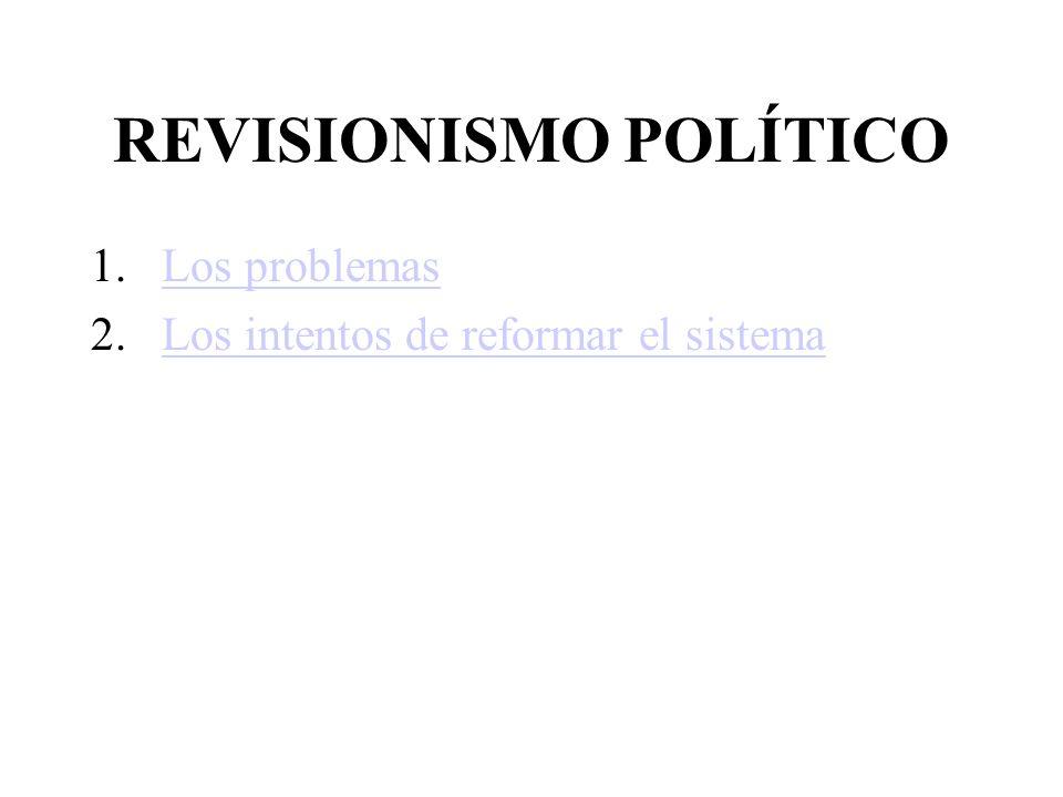 REVISIONISMO POLÍTICO 1.Los problemasLos problemas 2.Los intentos de reformar el sistemaLos intentos de reformar el sistema