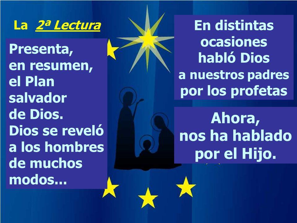 Ahora, nos ha hablado por el Hijo.Presenta, en resumen, el Plan salvador de Dios.