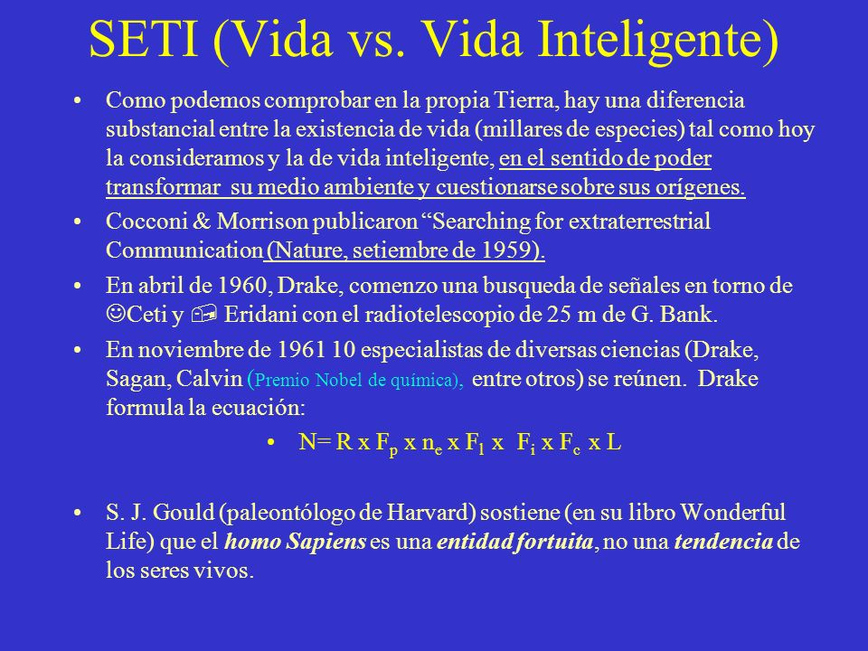 SETI (Vida vs.