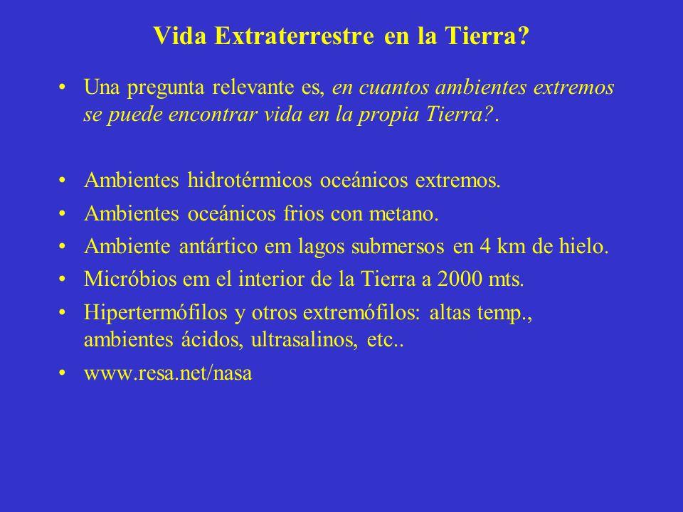 Vida Extraterrestre en la Tierra.