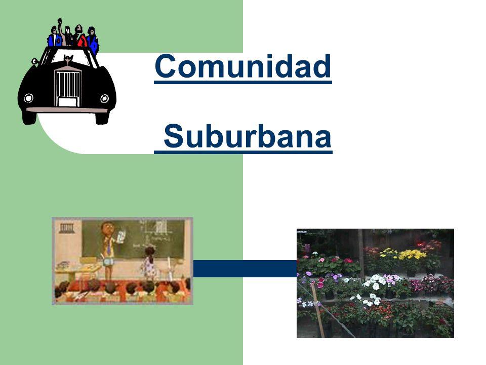 ¿Qué es una comunidad Suburbana.