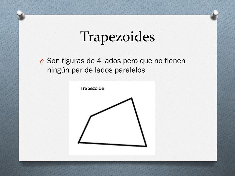 Trapezoides O Son figuras de 4 lados pero que no tienen ningún par de lados paralelos
