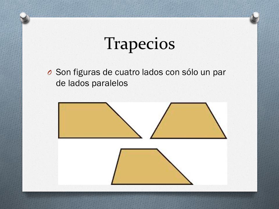 Trapecios O Son figuras de cuatro lados con sólo un par de lados paralelos
